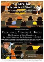 seminar van marijke huisman over Experience, Memory en History. The reception of Slave Narratives in the United States and the Netherlands, 1789 - 2013